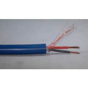 Mikrofonkabel zweiadrig abgeschirmt blau