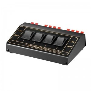 Lautsprecher-Umschaltbox 4x Lautsprecherpaar < Ø2,5mm²