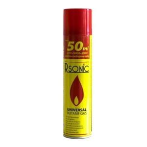 Rsonic® Universal Feuerzeuggas mit 4 Kunststoff - Adaptern