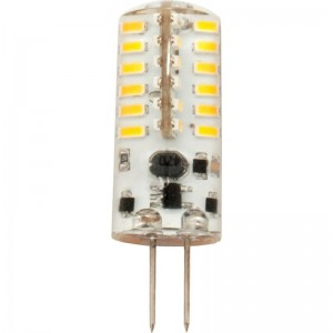 LED-Stiftsockellampe G4, horizontal 12V, 3W, 48x3014SMDs, warmweiss
