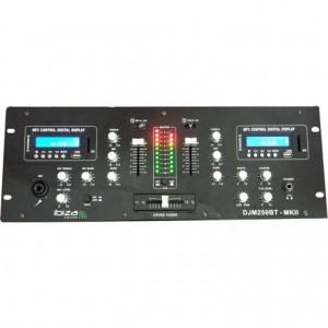 """IBIZA 2-Kanal DJ Mischpult """"DJM250BT-MKII"""" mit USB, SD & Bluetooth"""
