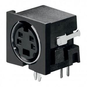 Mini-Din-Buchse 4-polig bei mükra electronic