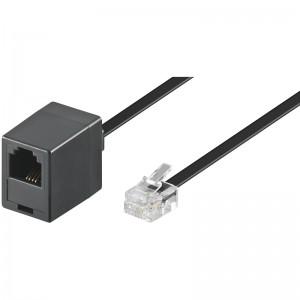 Telefon-Verlängerungskabel 10m RJ11 Stecker>RJ11 Kupplung 4-polig