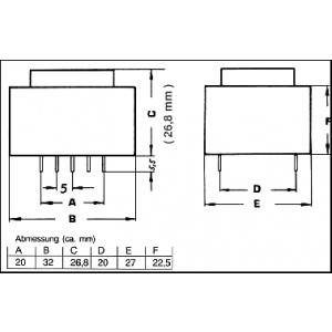 TRAFO1X12V1,6VAPR
