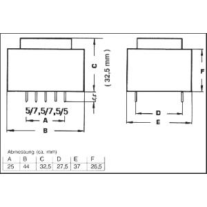 TRAFO1X12V4,5VAPR