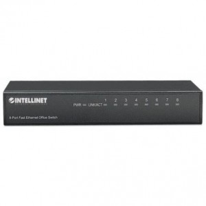 Intellinet 8-Port Fast Ethernet Office Switch Metall