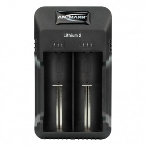2-Schacht USB-Ladegerät für 1-2 Li-Ion Akkus