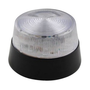 LED Blitzlicht transparent 12VDC, Ø77mm, IP20