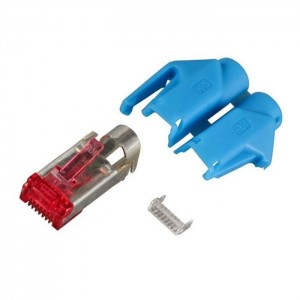 HRS Cat.6 Hirose RJ45 Steckerset 250MHz 6,6mm blau