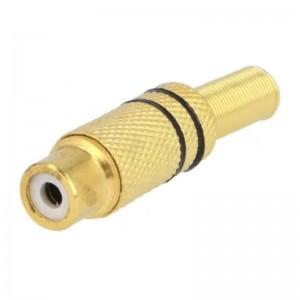 Cinch-Kupplung in Metallausführung vergoldet