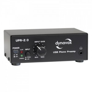 Dynavox UPR-2.0 USB-Phono-Vorverstärker schwarz