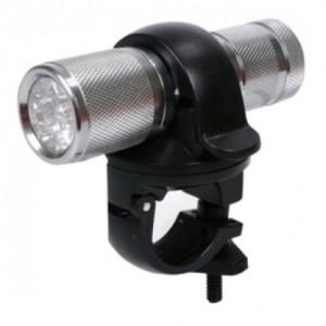 LED-FVL10 LED Fahrradlicht und Taschenlampe Aluminium eloxiert