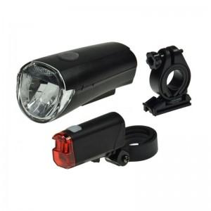 """Fahrrad LED-Beleuchtungsset """"CFL 30"""" 30Lux, StVZO zugelassen, Batteriebetrieb"""