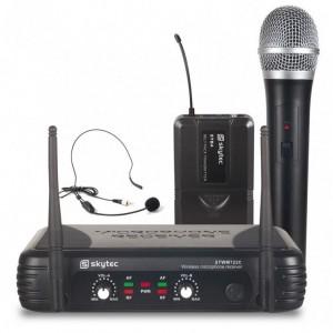 Skytec 2-Kanal UHF Funkmikrofon System