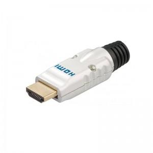 Goobay HDMI™ Stecker in Metall mit Knickschutz und Goldkontakten