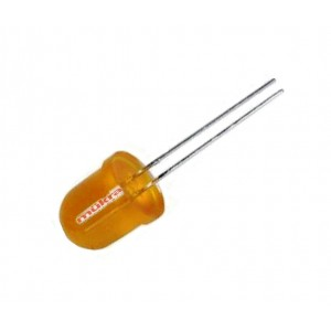 LED 10mm orange 40-150mcd 60° 20mA diffus gewölbt