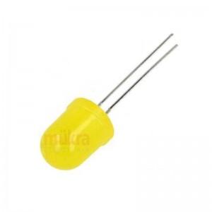 LED 10mm gelb 40-45mcd 40° diffus gewölbt