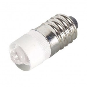 LED-Schraubsockel Birne weiss E10 12V