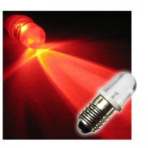 LED-Schraubsockel Birne rot E10 12V