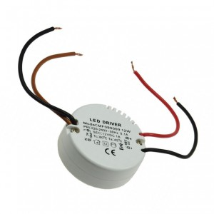 LED-Transformator 230VAC 12VDC 0,5-12W rund