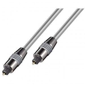 HQ Lichtwellenleiter 5m 2x-Toslinkstecker Metall