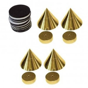 Dynavox Lautsprecherspikes Sub-Watt-Absorber 4er Set messing
