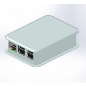 Gehäuse für Raspberry Pi B+ und Pi 2 B Licht-Grau