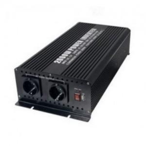 Spannungswandler 24V zu 230V 2000W mit USB-Port