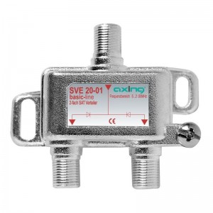 Axing 2 fach SAT-Verteiler 5…2200 MHz