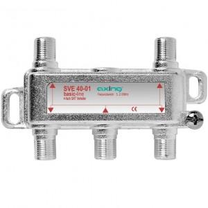 Axing 4 fach SAT-Verteiler 5…2200 MHz