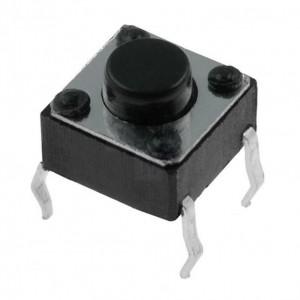 Mikroschalter 1-stellig 1xEIN Printausführung 50mA/12VDC 6x6mm