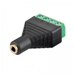 Goobay® Terminal Block 4-pin auf Klinke 3,5 mm Buchse