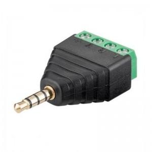 Goobay® Terminal Block 4-pin auf Klinke 3,5 mm Stecker