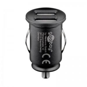 Goobay® USB KFZ Ladegerät Stromadapter 12/24VDC zu 5V DC/2.1A mini