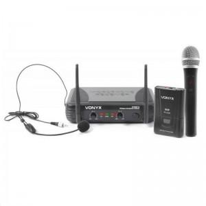 Vonyx STWM712C VHF Mikrofon System 2-Kanal Kombi