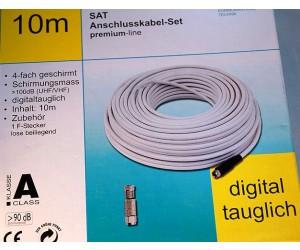 SKB489-10 Koaxialkabel-Set F-Stecker Schutztülle Kabel 10m
