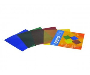 Farbfolienset-Set1 19x19cm für Lichtstrahler