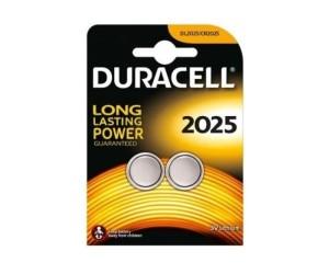 Duracell® DL2025 CR2025 3V 150mAh Lithium-Knopfzellen 2 Stück