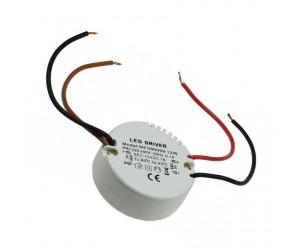 LED-Transformator 230VAC 12VDC 0,5-12W rund LED-Trafo12V/12WRD