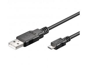 """USB 2.0 Hi-Speed Kabel USB """"A"""" + Micro-USB """"B"""" 480 Mbit/s 1,8m USB2.0A-microB/180"""